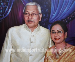 Create best family portrait painting by best artist in mumbai, India