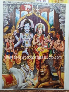 Indian religious oil paintings on canvas