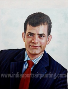 Realistic oil portrait painting