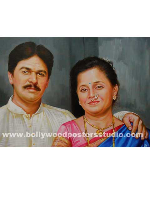 Best portrait painter in mumbai , I NDIA