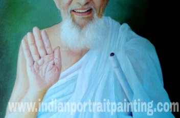 Canvas oil portrait painting India