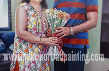 Custom family portrait by indian artist mumbai