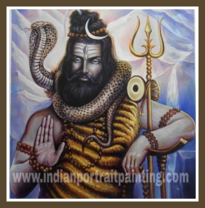 Lord shiva oil painting art on canvas hand painted