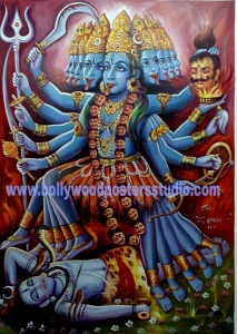 Maha kali original painting on oil canvas