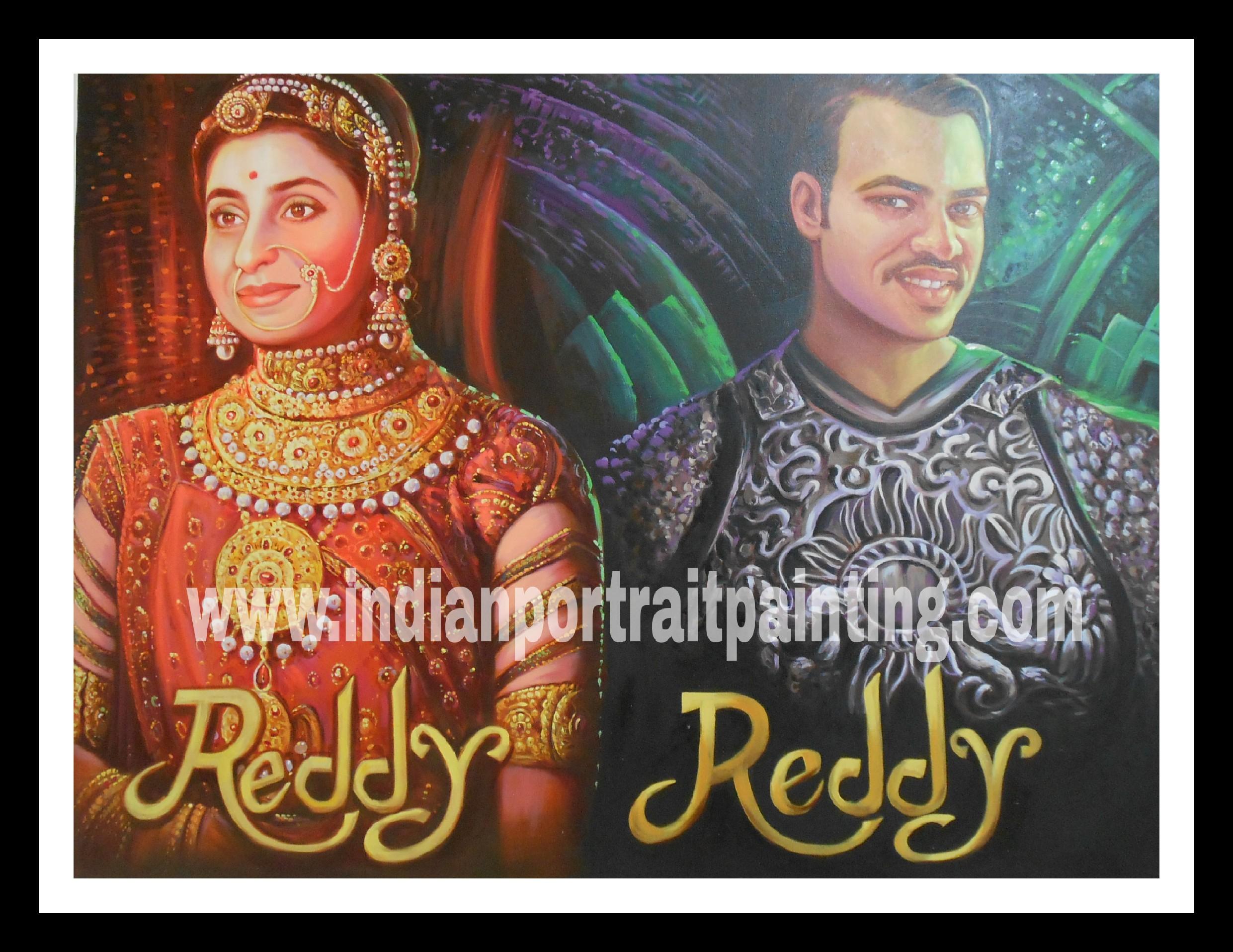 2353fb6c63e Retro bollywood theme wedding sangeet decoration - Indian Portrait ...