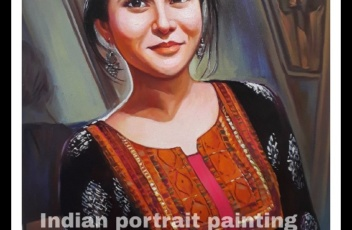 portrait hand painted