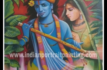 Radha Kishan oil painting on canvas for sale
