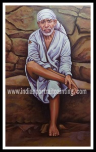 Sai baba hand made painting