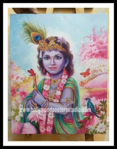 Bal krishna oil paintings
