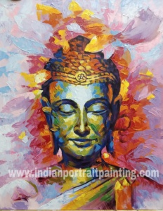 Buddha modern art painting