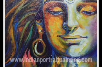 Creative Lord shiva modern art painting (2)