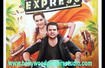 Custom made bollywood poster for indian wedding
