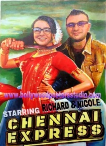 Customized made bollywood posters for gift
