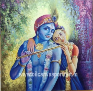 Krishna Radha paintings original