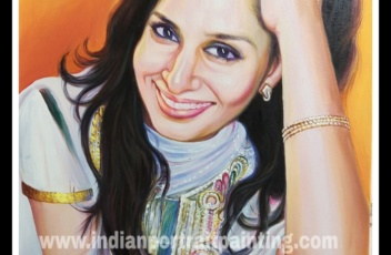 Photo to oil painting on canvas