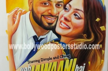 Bollywood themed party decor customized poster